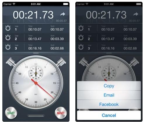تطبيق Stopwatch+ ساعة إيقاف مميزة
