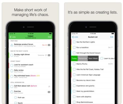تطبيق The Hit List - لإدارة المهام و تنظيم وقتك