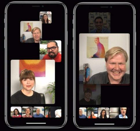 إزالة مكالمات الفيديو الجماعية من فيس تايم