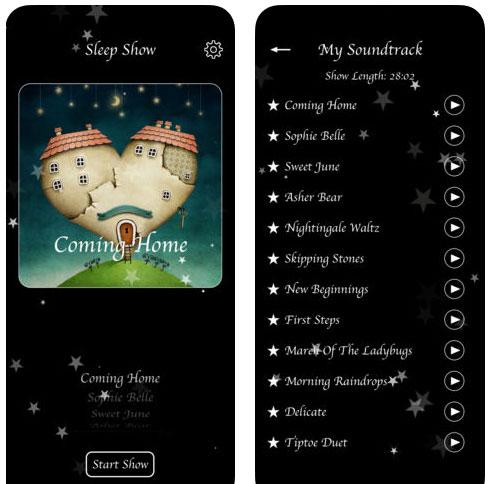 تطبيق Sleep Show لمساعدة الأطفال على النوم