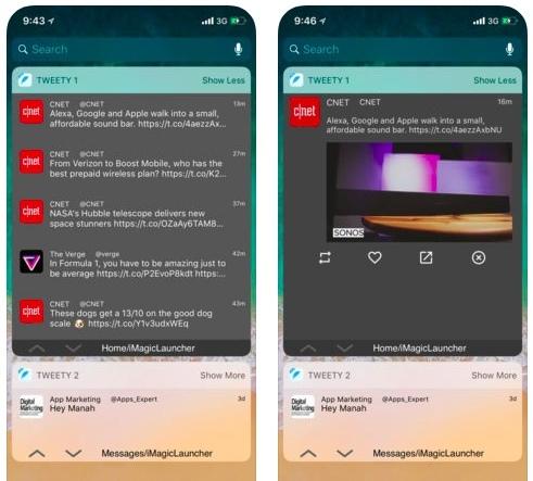 تطبيق Tweety Pro - تطبيق مصغر لتويتر