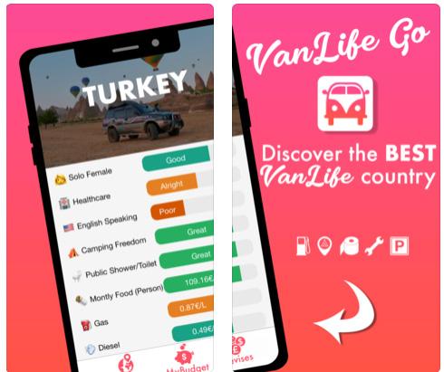 تطبيق VanLife Go للتخطيط للرحلات والسفر