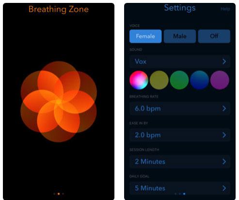 تطبيق Breathing Zone لمساعدتك على الاسترخاء