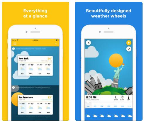 تطبيق WeatherWheel للطقس