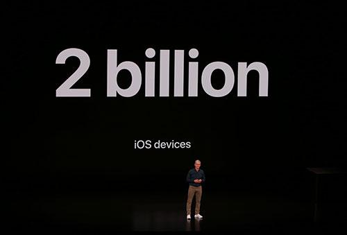 هناك حالياً 2 مليار جهاز يعمل بنظام iOS حول العالم (آيفون، آيباد، آيبود تاتش)