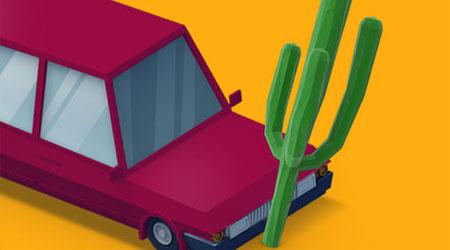 لعبة Desert Drive - لعبة مسلية وبسيطة لهواة قيادة السيارات، مجانية سيحبها الجميع!