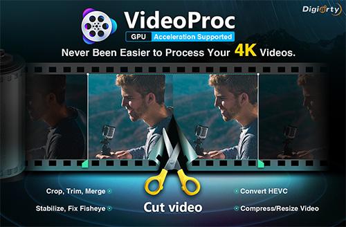 برنامج VideoProc خفيف ومميز لتحرير ومعالجة الفيديو بدقة عالية، وفرصة لربح كاميرا!