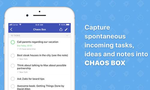 تطبيق Chaos Control لإدارة المهام