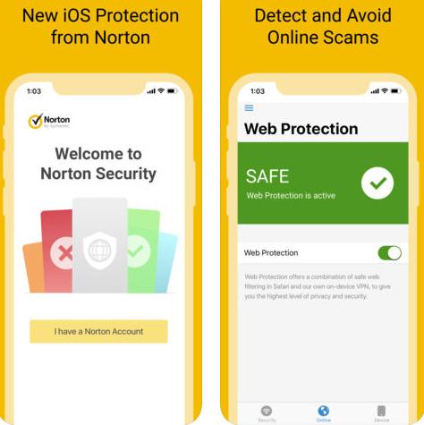 تطبيق Norton Security للأمن والحماية