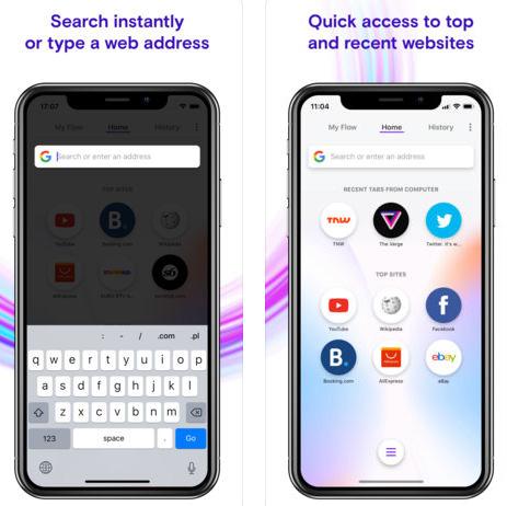 متصفح Opera Touch المميز