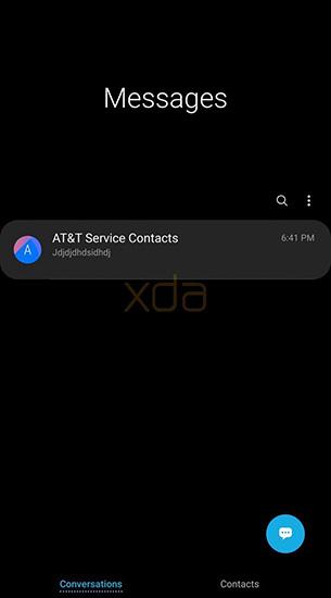 الوضع الليلي على هاتف جالكسي S9 (صورة مسربة)