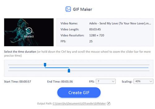 تحويل الفيديو إلى صورة متحركة