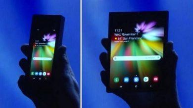 صورة هاتف سامسونج القابل للطي سوف يصل في مارس بسعر 1770 دولار!!