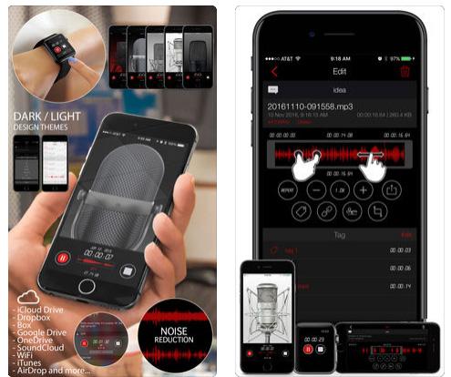 تطبيق Awesome Voice Recorder PRO لتسجيل الصوت