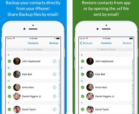 تطبيق Backup Contacts لنسخ جهات الاتصال احتياطياً