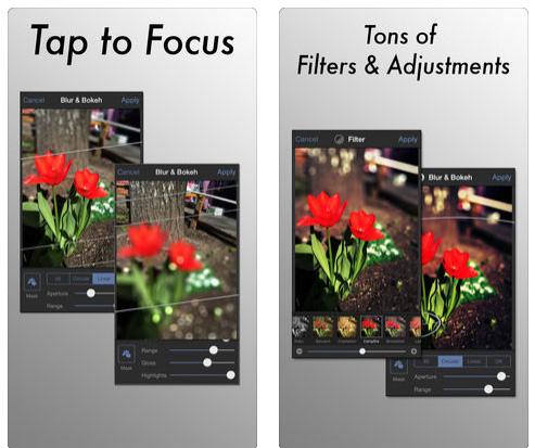 تطبيق Tadaa SLR لعمل تركيز احترافي في الصور