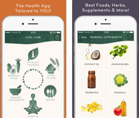 تطبيق COOK + CURE لطهي وجبات صحية