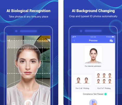 تطبيق Photid لتصميم صورة شخصية رسمية