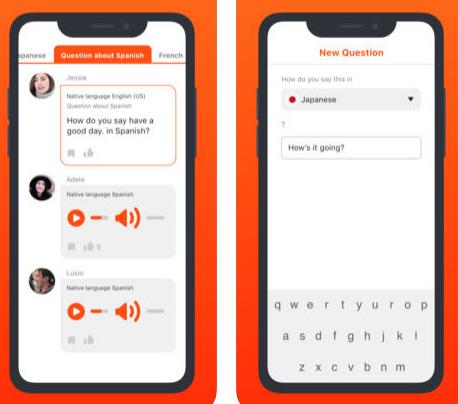 تطبيق HiNative لتعلم اللغات
