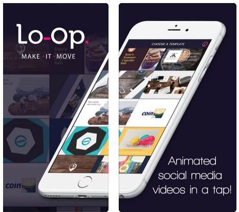 تطبيق Lo-Op لصناعة مقاطع الفيديو