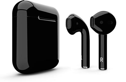 سماعة Apple AirPods 2 القادمة باللون الأسود (تصميم متوقع)