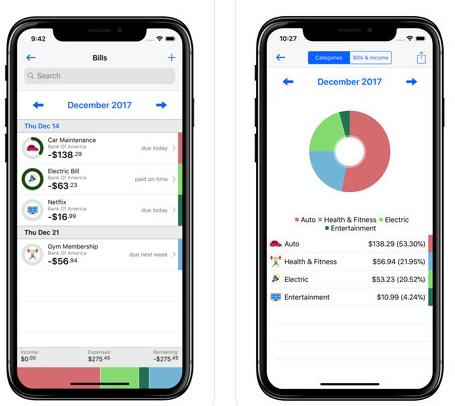 تطبيق Bill Tracker Pro لإدارة المصروفات