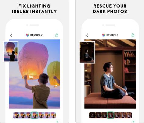 تطبيق Brightly - لإصلاح إضاءة الصور