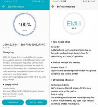 تحديث Android 9.0 Pie يبدأ في الوصول إلى Huawei P10