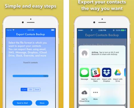 تطبيق Export Contact Backup لنسخ جهات الاتصال