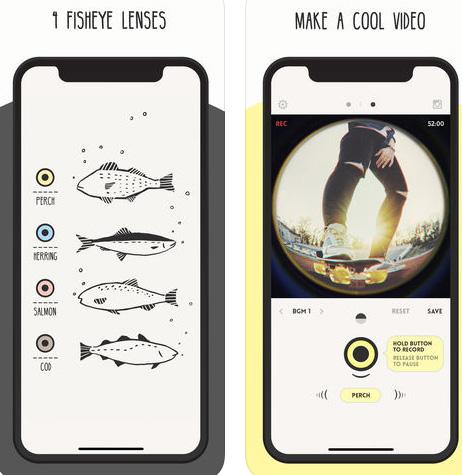 تطبيق FISHI - لالتقاط الصور بتأثير عين السمكة