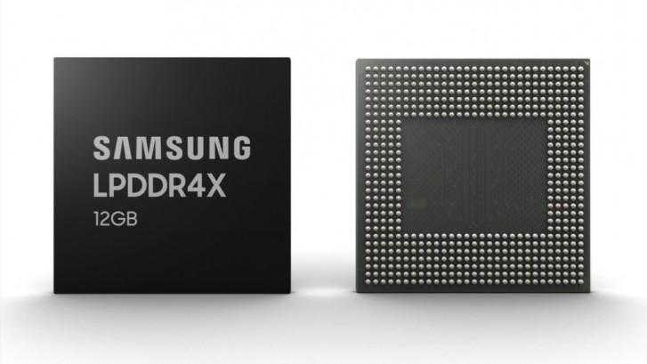 سامسونج تبدأ إنتاج وحدات ذاكرة عشواية سعة 12 جيجابايت للاستخدام في الهواتف الذكية