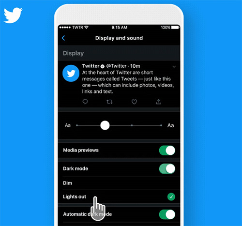 تطبيق تويتر للآيفون يحصل على ميزة اطفاء الأنوار Lights Out - ما هي؟ وكيفية تفعيلها؟
