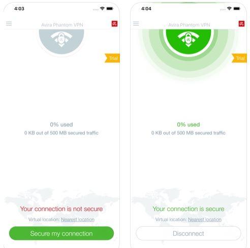 تطبيق Avira Phantom VPN للتصفح الخفي