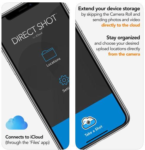 تطبيق Direct Shot for iCloud للرفع إلى الآي كلاود مباشرة
