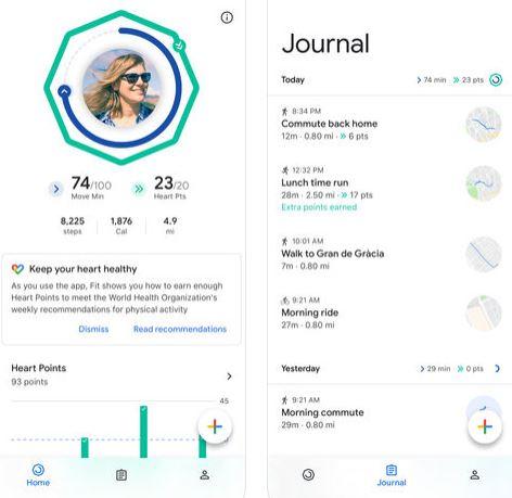 تطبيق Google Fit للآيفون