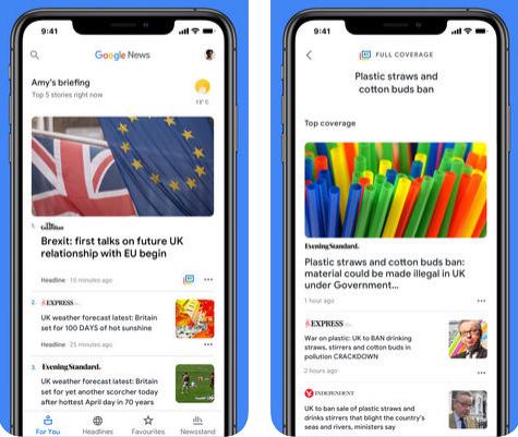 تطبيق Google News للأخبار