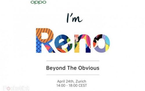 الإعلان رسمياً عن هاتف Oppo Reno مع كاميرا 10x Zoom يوم 24 أبريل