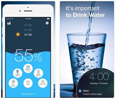 تطبيق Water Balance Tracker منبه شرب الماء