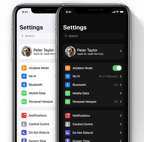 الوضع الليلي في نظام iOS 13