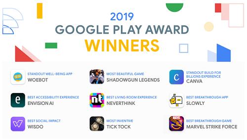 هذه هي التطبيقات والألعاب الأفضل في متجر جوجل بلاي لعام 2019