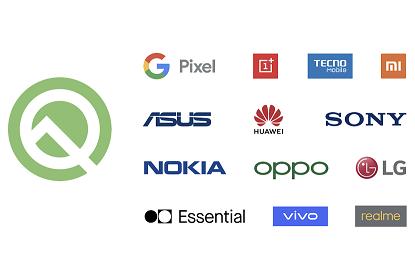 الشركات المتعاونة مع جوجل لتوفير Android Q التجريبي لبعض أجهزتها