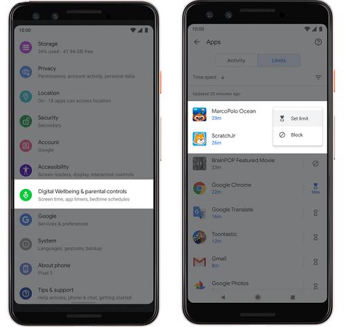 Android Q - التحكم الأبوي و وضع التركيز