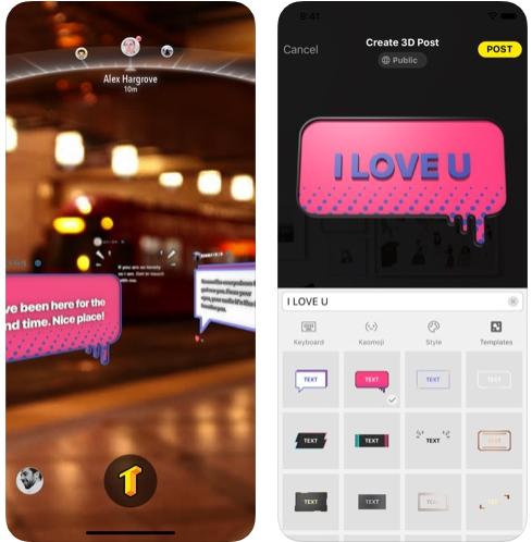 تطبيق TextHere لإنشاء نصوص ثلاثية الأبعاد