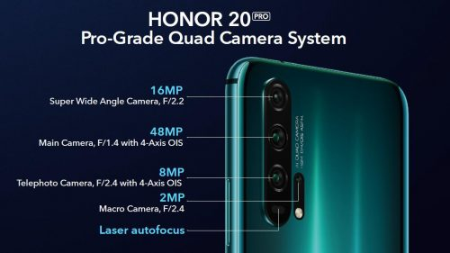 كاميرا Honor 20 Pro