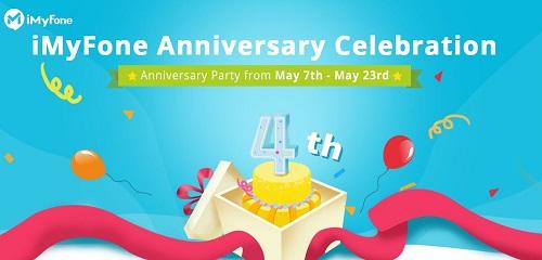 عروض على برامج iMyFone بمناسبة الذكرى السنوية الرابعة على إنشائها