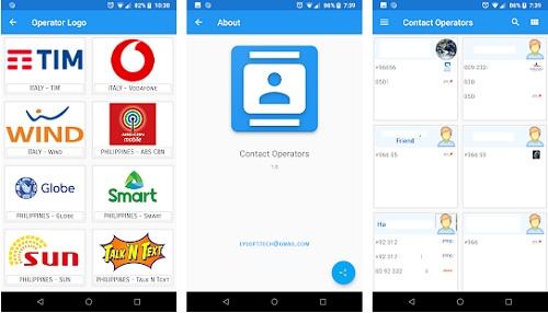 تطبيقContact-Mobile Operators