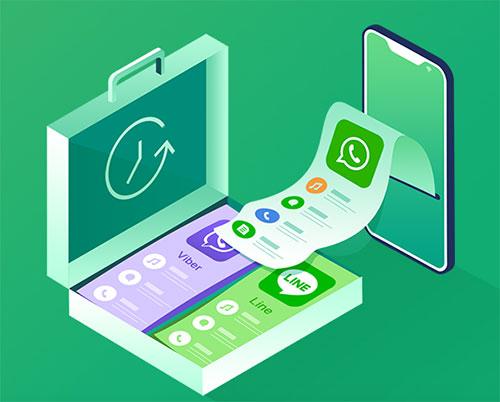 برنامج Anytrans - انسخ رسائل واتس آب أو LINE أو Viber واسترجعها بسهولة على الآيفون! مع برنامج Anytrans !