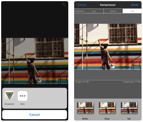 تطبيق Kompressor - لضغط الصور