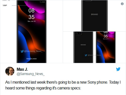 تسريب مواصفات أول هاتف مع ست كاميرات خلفية من سوني