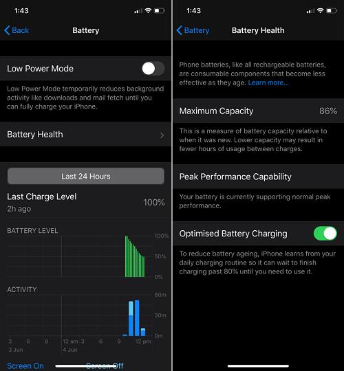 ميزة تحسين شحن البطارية Optimized Battery Charging